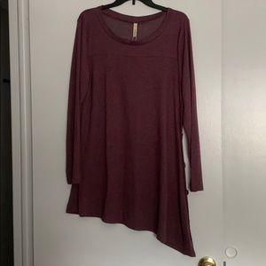 Long Sleeve Sweater Tunic Dress